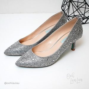 Betsey Johnson 'Jora' Embellished Kitten Heels